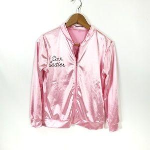 Jackets & Blazers - Pink Ladies Womens XS/S Poodle Satin Jacket (J22)